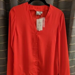 ASOS Red Button-Down Blouse